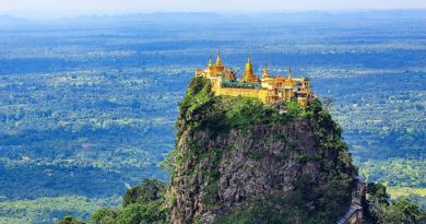Таунг-Калат — монастырь духов на горе Поупа. Баган. Мьянма