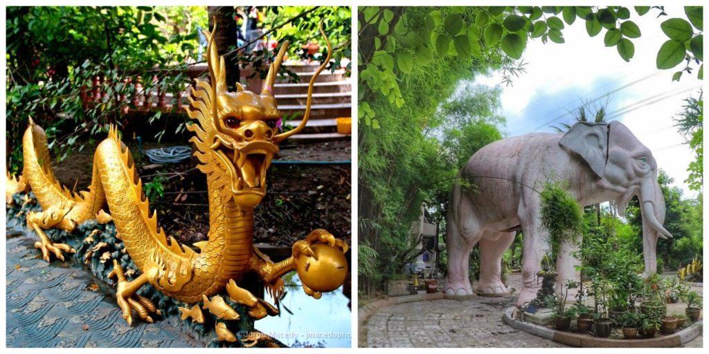 Ват Сампхран — храм Дракона. Таиланд