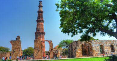 Минарет Кутб-Минар – «седьмое чудо Индостана». Железная колонна.