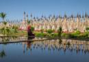 Лес из 2500 буддийских ступ Какку в Мьянме.
