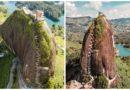 Эль-Пеньон-де-Гуатапе — скала-монолит с лестницей – шнуровкой.