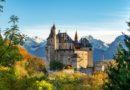 Замок Ментон и Святой Бернар — покровитель альпинистов.